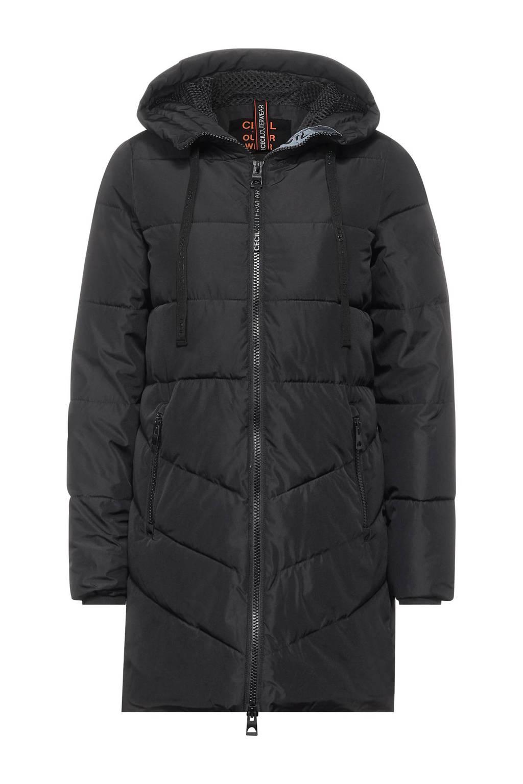 CECIL gewatteerde jas zwart, Zwart