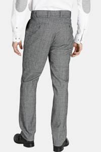 Charles Colby geruite loose fit pantalon DUKE GILBERT Plus Size grijs, Grijs