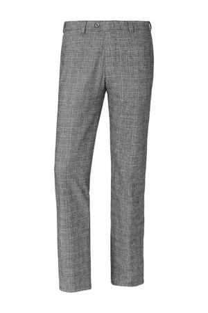 geruite loose fit pantalon DUKE GILBERT Plus Size grijs