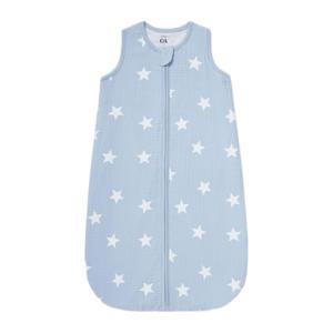 baby slaapzak met sterren lichtblauw/wit
