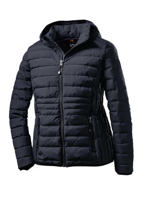 outdoor jas Quilted donkerblauw