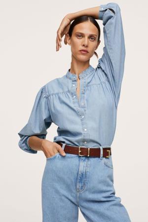 denim blouse lichtblauw