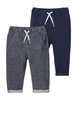 joggingbroek - set van 2 donkerblauw