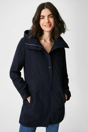 waterproof jas donkerblauw