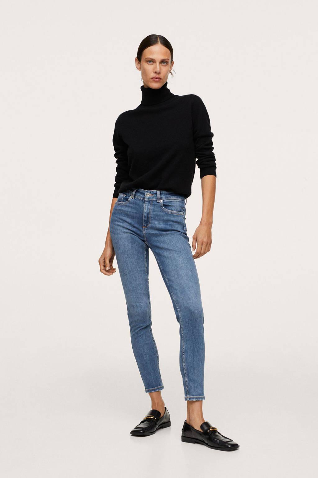 Mango low skinny push up jeans blue denim, Blue denim