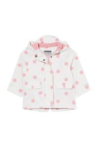 C&A Baby Club baby gebloemde regenjas wit, Wit