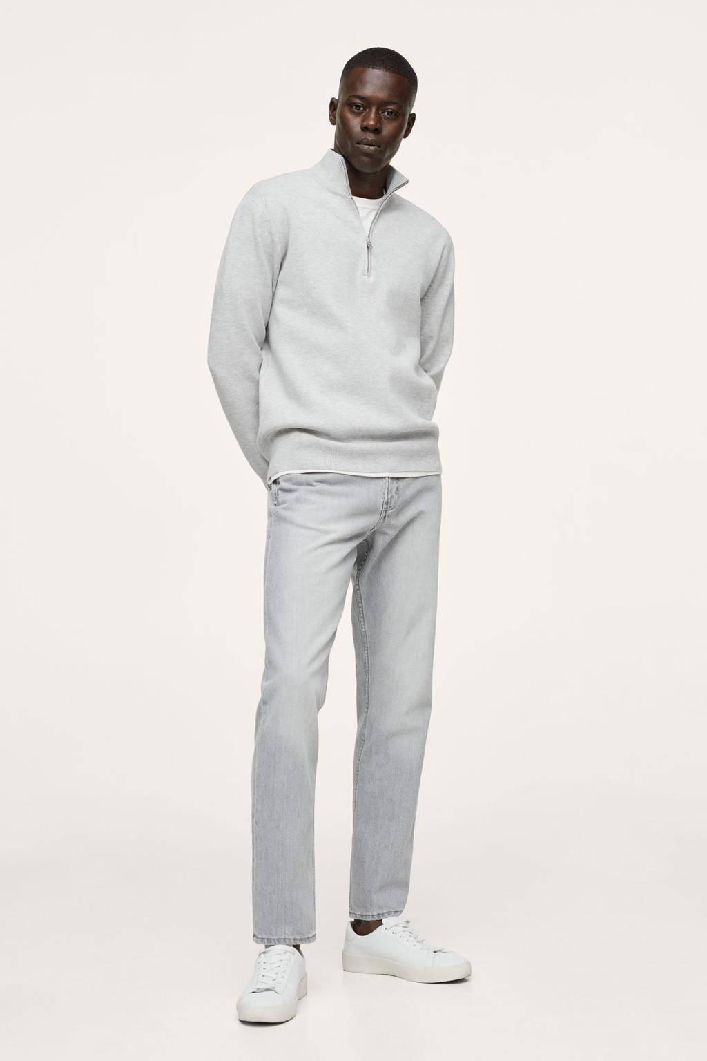 Mango Man straight fit jeans changeant grijs