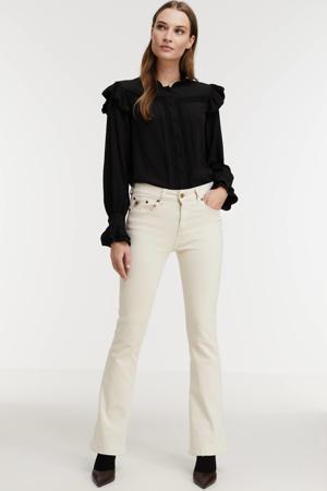 blouse Rose met ruches black
