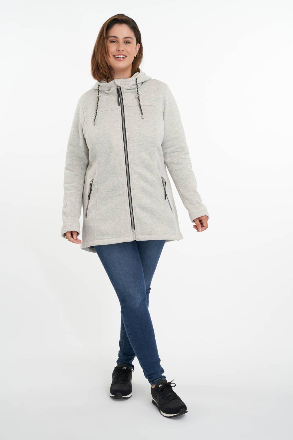 MS Mode gemêleerde jas lichtgrijs, Lichtgrijs