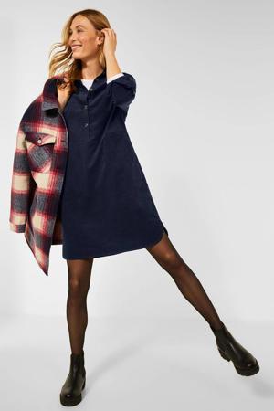 corduroy jurk donkerblauw