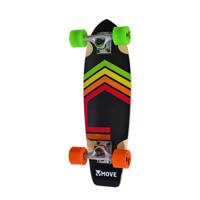 "Move skateboard Cruiser 23"", Multi/ Rastafari"