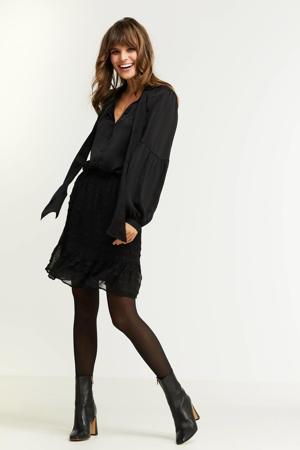 blouse satijn zwart