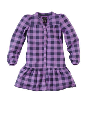geruite jurk Floor paars/donkerblauw