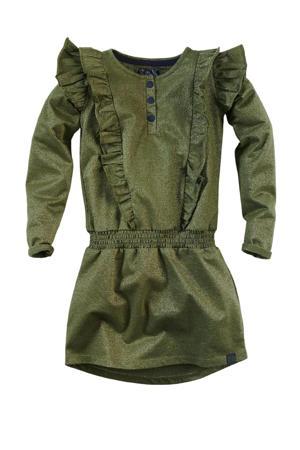jurk Jetteke met ruches army groen