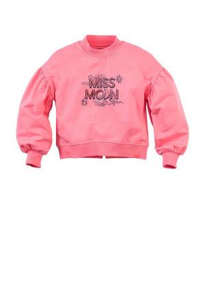 sweater Nive met printopdruk roze