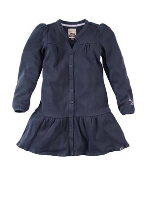 jurk Alva met plooien donkerblauw