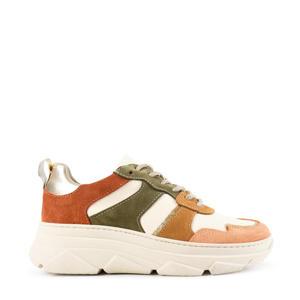 Jola  suède sneakers brique/multi