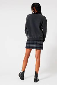 America Today sweater met printopdruk zwart washed, Zwart washed