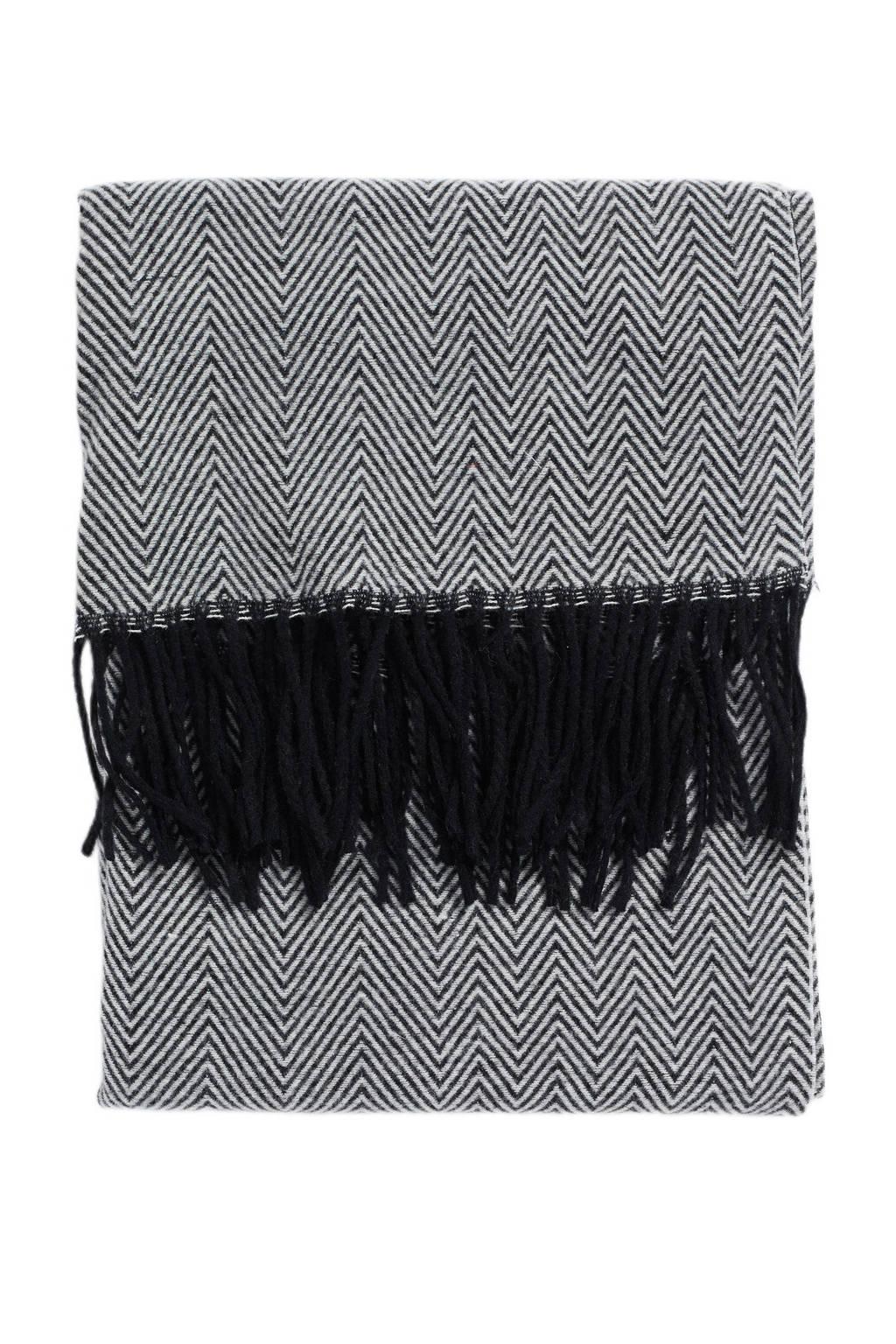 WE Fashion sjaal zwart/wit, Zwart/wit