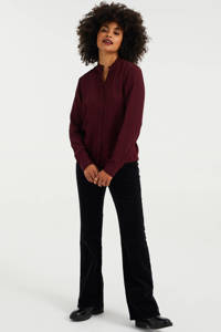 WE Fashion blouse donkerrood, Donkerrood