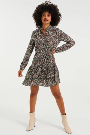 gebloemde jurk multi