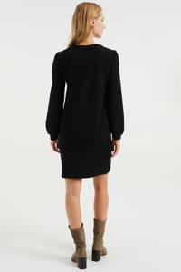 WE Fashion sweatjurk met textuur zwart, Zwart