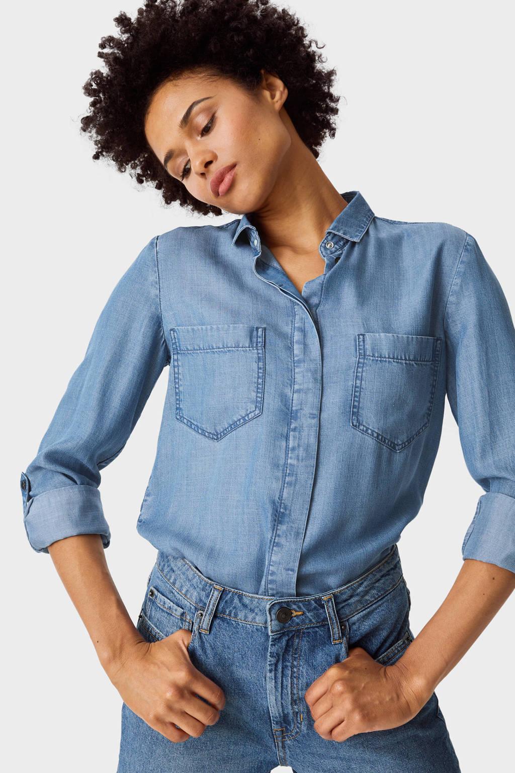 C&A blouse lichtblauw, Lichtblauw