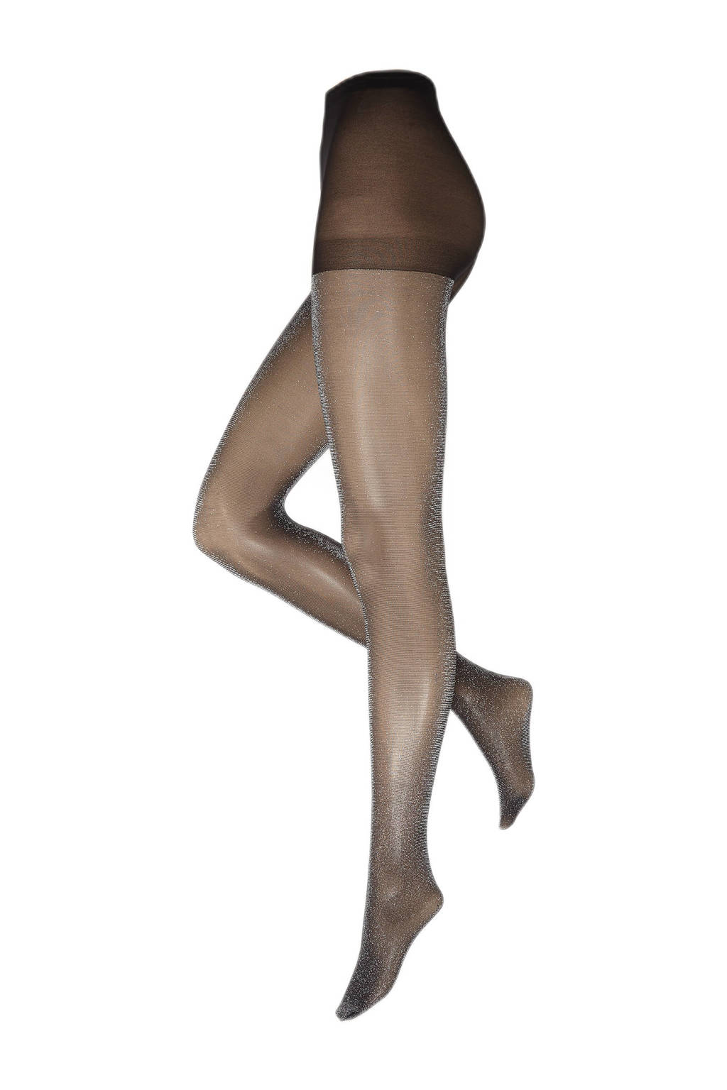 WE Fashion panty met glitters 30 denier zwart, Zwart