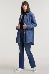 ONLY CARMAKOMA spijkerjasje CARFLORI blauw, Blauw
