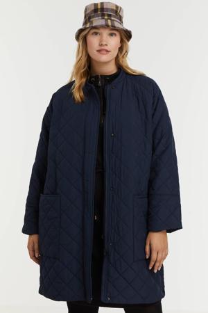 jas van gerecycled polyester donkerblauw