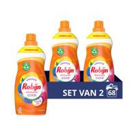 Robijn Klein & Krachtig Classics Color Vloeibaar Wasmiddel - 2 x 34 wasbeurten - Voordeelverpakking - 68 wasbeurten