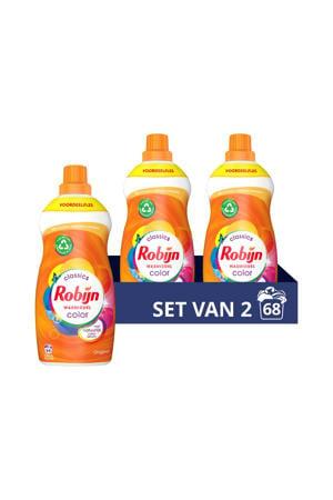 Klein & Krachtig Classics Color Vloeibaar Wasmiddel - 2 x 34 wasbeurten - Voordeelverpakking - 68 wasbeurten