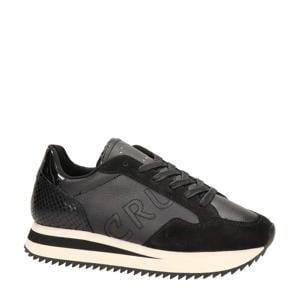 Sierra  leren sneakers zwart
