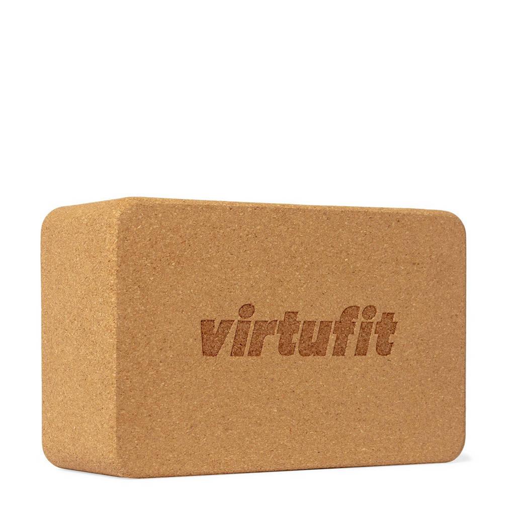 Virtufit  Premium kurk yoga blok, Lichtbruin
