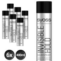 Syoss Styling-Hairspray Invisible Hold - 6x 400 ml