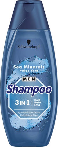 Schwarzkopf Shampoo Men 3in1 Sea Minerals + Aloë Vera - 5x 400 ml