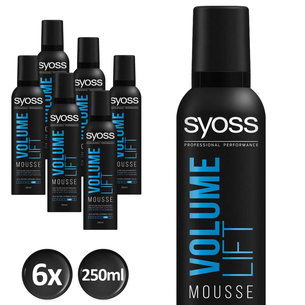 Syoss Volume-Mousse Volume Lift  - 6x 250 ml