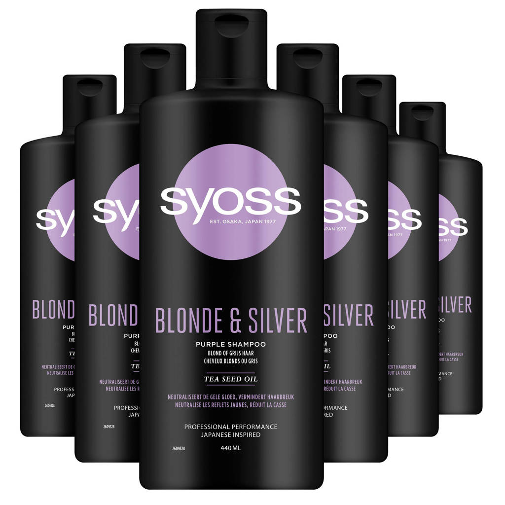 Syoss Shampoo Blonde&Silver - 6x 440 ml