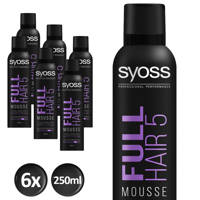 Syoss Styling-Mousse Full Hair 5  - 6x 250 ml