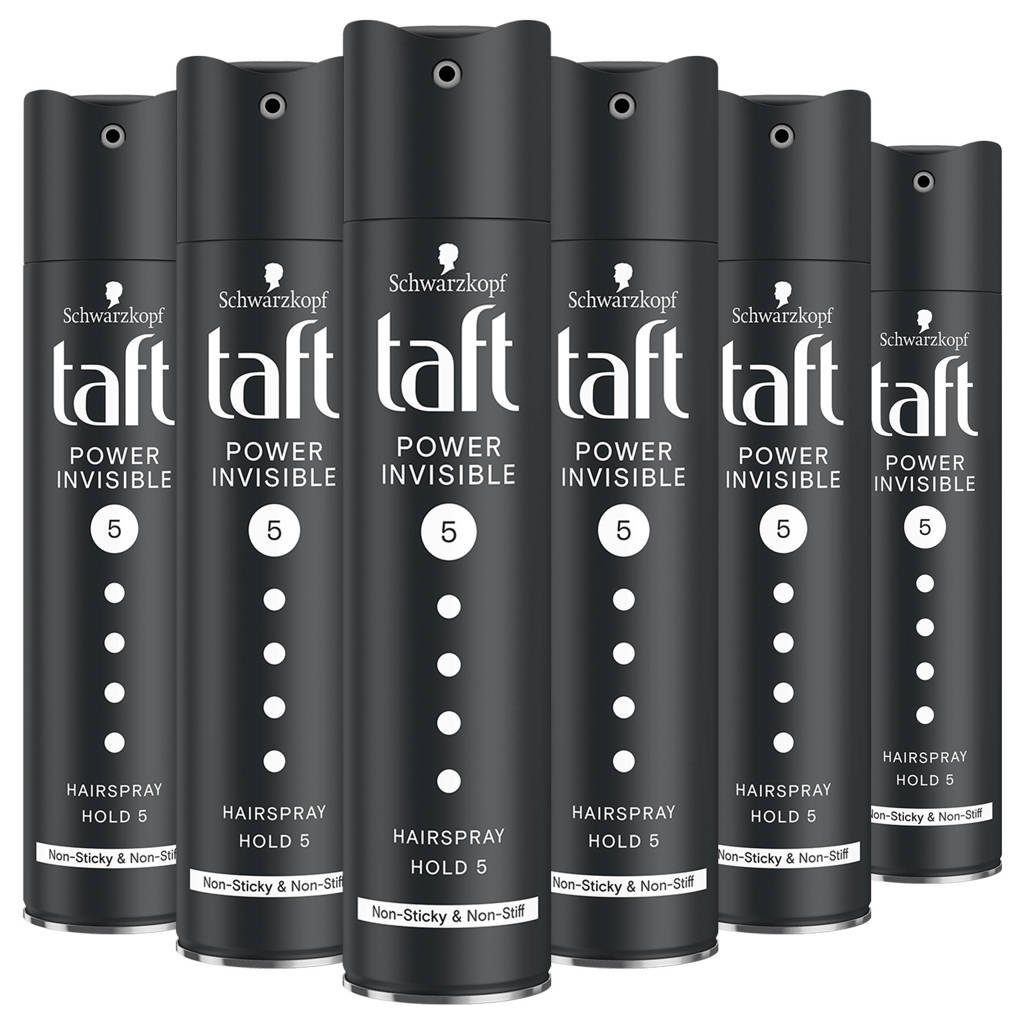 Schwarzkopf Taft Power Invisible Hairspray - 6x 250 ml