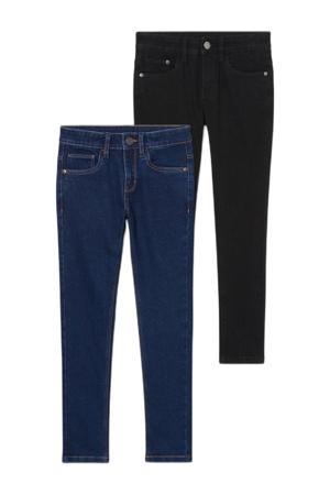 skinny jeans - set van 2 donkerblauw/zwart