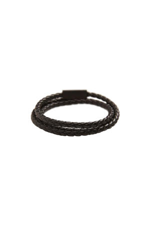 gevlochten armband zwart