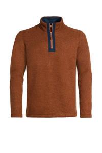 VAUDE outdoor trui Tesero bruin/donkerblauw, Bruin/donkerblauw