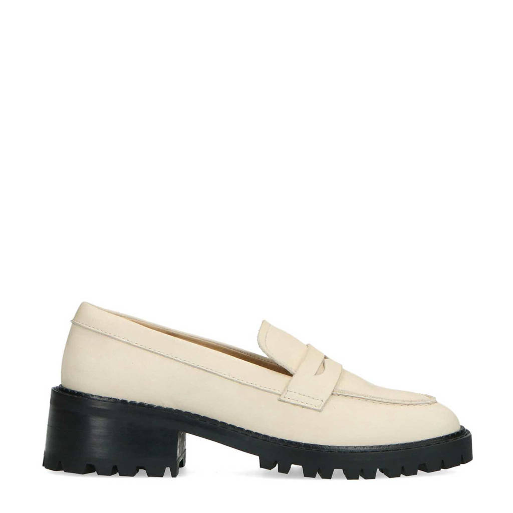 Sacha   leren loafers off white, Ecru / Off white