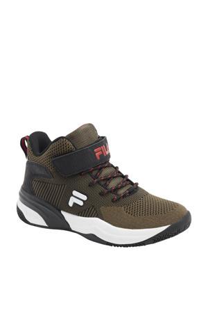 hoge sneakers olijfgroen