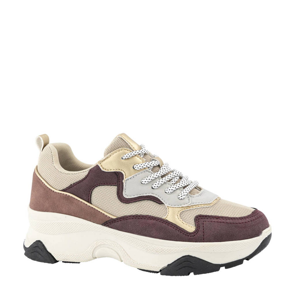 Oxmox   chunky sneakers goud/oudroze, Goud/Roze/Rood