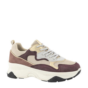 chunky sneakers goud/oudroze