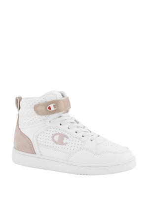 hoge sneakers wit/roségoud