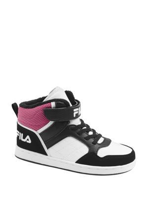 hoge sneakers zwart/wit/roze