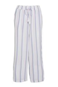 C&A gestreepte pyjama wit/lichtblauw, Wit/lichtblauw